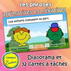 Phrases affirmatives  et négatives Monsieur Madame