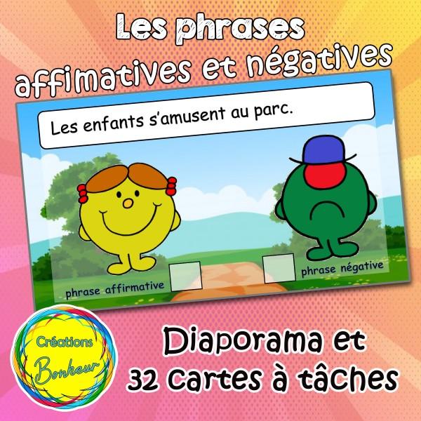 Phrases affirmatives  et négatives Monsieur Madame