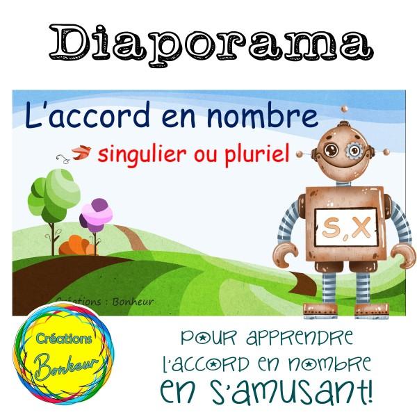 Diaporama - Règle générale d'accord en nombre