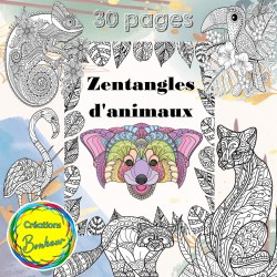Zentangle - coloriage d'animaux