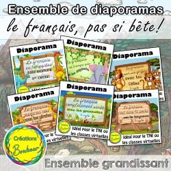 Ensemble de diaporamas - Le français, pas si bête!
