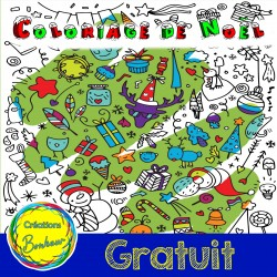 Coloriage Doodle Arts de Noël
