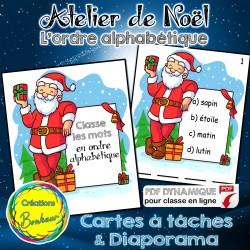 Atelier: L'ordre alphabétique - père Noël