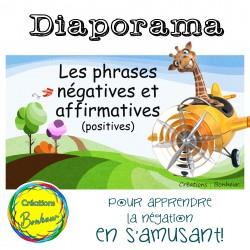 Diaporama - Les phrases affirmatives et négatives