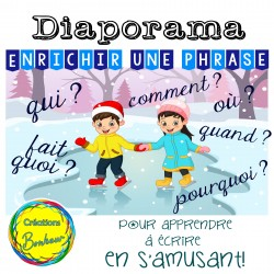 Diaporama - Enrichir une phrase (thème hiver)