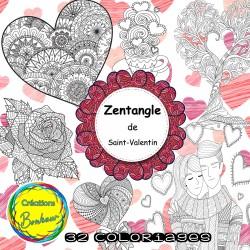 Zentangle - coloriage de St-Valentin