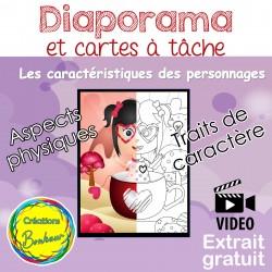 Diaporama - Les caractéristiques des personnages