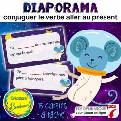 Conjugaison verbe aller au présent (diapo+cartes)
