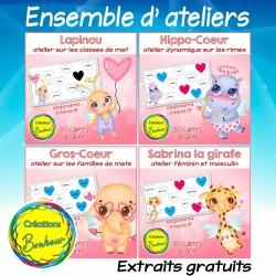 Ensemble d'ateliers : associations en français
