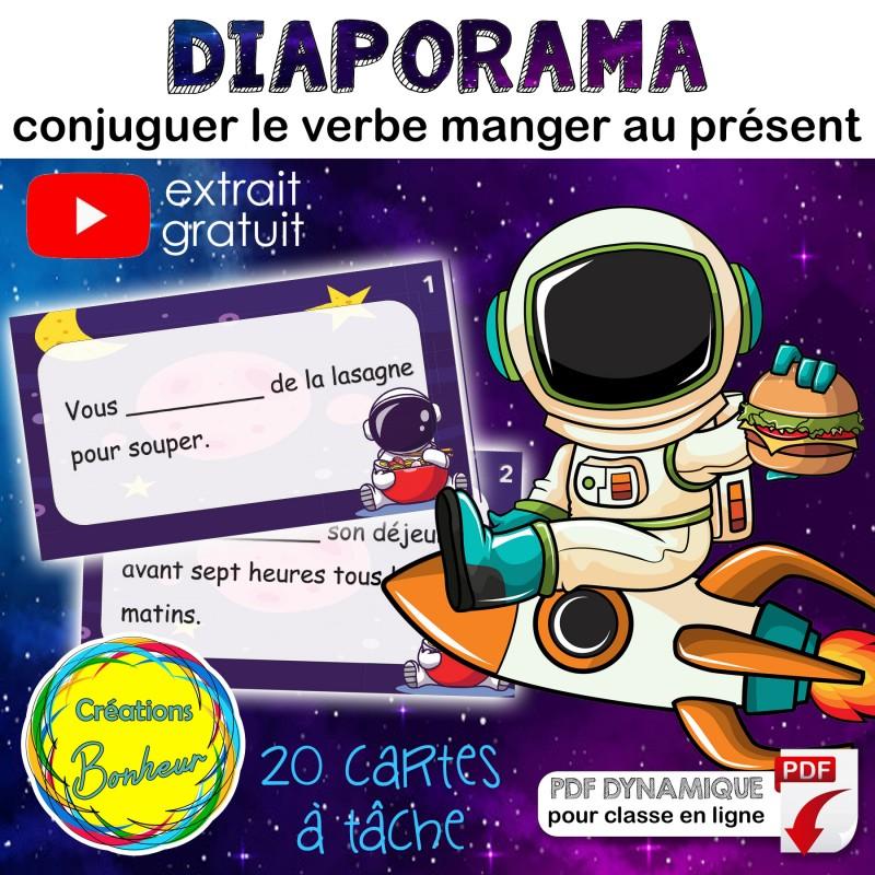 Manger Conjugaison Au Present Diapo Cartes
