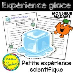 Expérience de la glace (Monsieur Madame)
