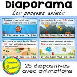 Les pronoms - exercices animés - diaporama