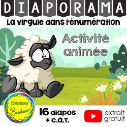 Diaporama - Virgule dans l'énumération - atelier