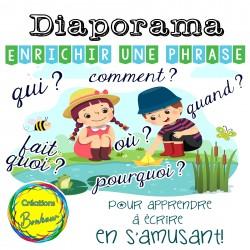 Diaporama - Enrichir une phrase - thème printemps