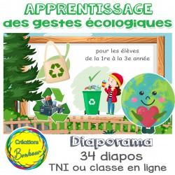 Apprentissage des gestes écologiques
