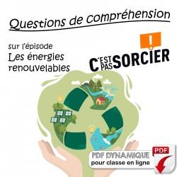 Les énergies renouvelables - Compréhension