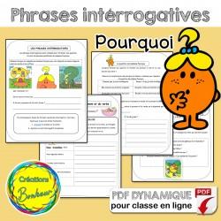 Phrases interrogatives avec madame Pourquoi
