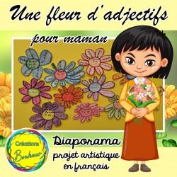 Une fleur d'adjectifs pour maman