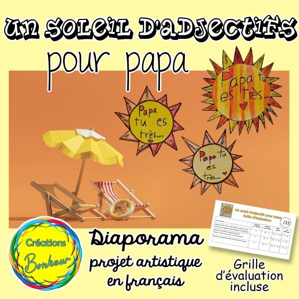 Un soleil d'adjectifs pour papa