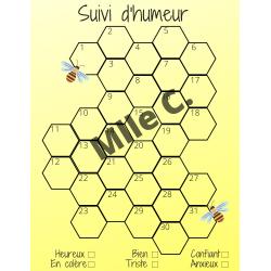 Suivi d'humeur (émotions) - Abeilles et ruche