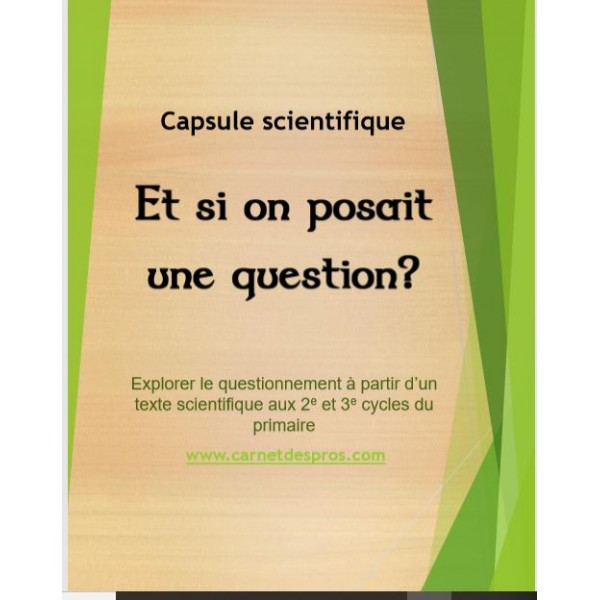 Science: Et si on posait une question?