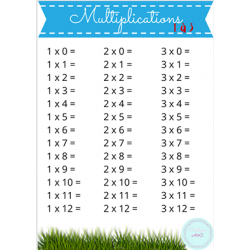 Exercices de multiplication