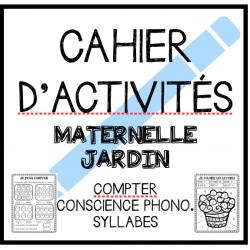 Cahier d'activités: MATERNELLE/JARDIN
