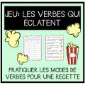 JEU- Les verbes qui éclatent