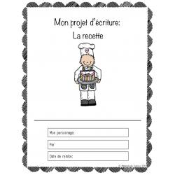 Cahier d'écriture: La recette (5e année)