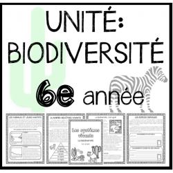 UNITÉ: La biodiversité (Sciences)