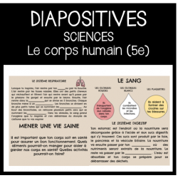 Diapositives- Le corps humain (5e année)