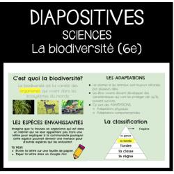 Diapositives: La biodiversité (6e année)