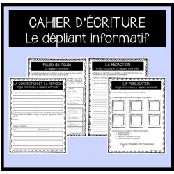 Cahier d'écriture: Dépliant informatif (5e année)