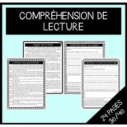 Compréhension de lecture (textes et questions)