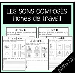 Pratiquer les sons composés (fiches de travail)