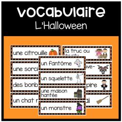 Cartes de vocabulaire: L'Halloween