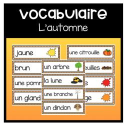 Cartes de vocabulaire: L'automne