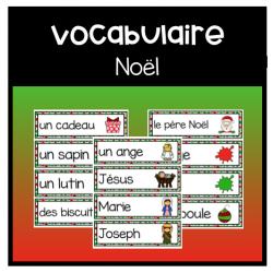 Cartes de vocabulaire: Noël