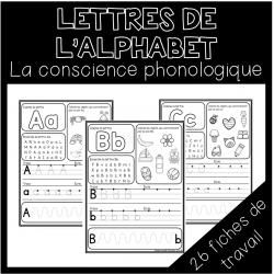 Les lettres de l'alphabet- La conscience phono