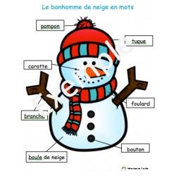 Le bonhomme de neige en mots