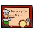 Sur ma pizza, il y a...