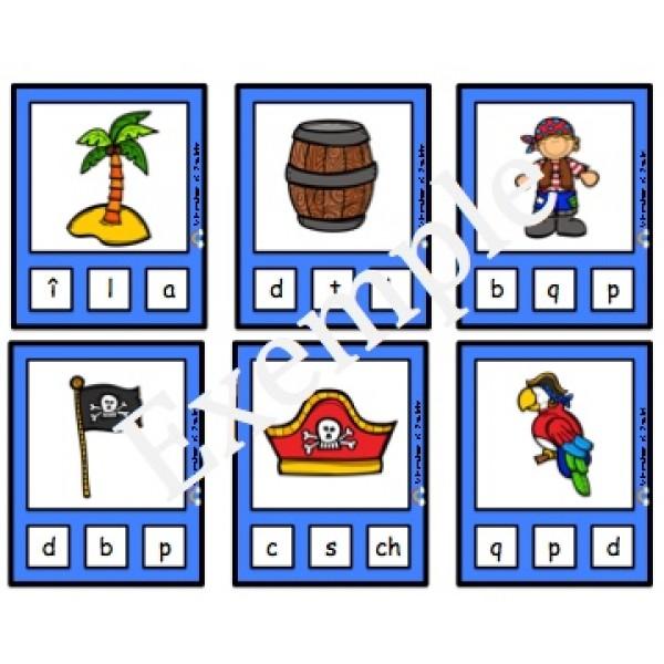 Son initial: cartes à pinces des pirates