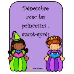 Dénombre avec les princesses: avant-après