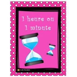 1 heure ou 1 minute