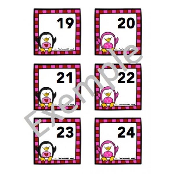 Chiffres du calendrier de février