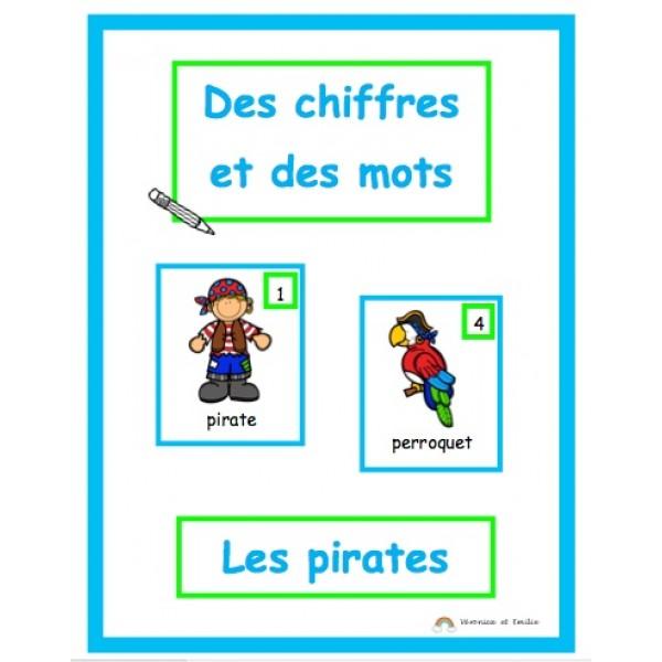 Des chiffres et des mots: thème les pirates