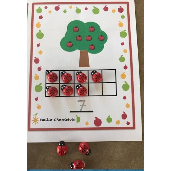 Tableaux de 10- Les pommiers