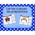 Cartes à pinces: les prépositions