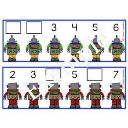 Les chiffres manquants- Les robots