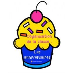 Organisation de la classe:  Les anniversaires